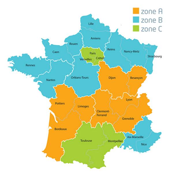 Calendario Escolar 20202020.Vacaciones Escolares Francia 2020
